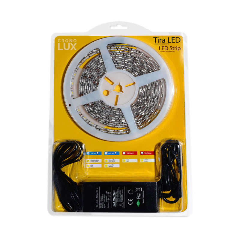 KIT tira LED flexible SMD5050, 5m (30 Led/m) - IP65, Blanco cálido